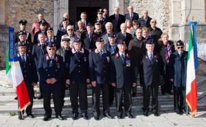 Il gruppo dell'Associazione Carabinieri - foto Roberto Bove